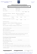 Official Visa Application For Un Employees Form