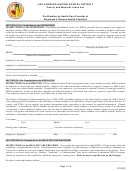 Certification By Health Care Provider Of Employee's Serious Health Condition Form - Los Angeles Unified School District