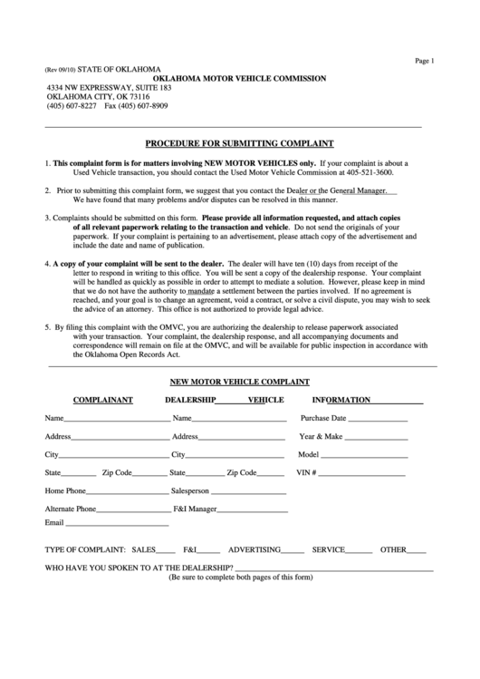 Top Dmv Complaint Form Templates free to download in PDF, Word and ...