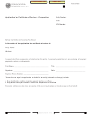 Form Ftb 3557 Bc - Application For Certificate Of Revivor - Corporation - 2015