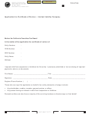Form Ftb 3557 Llc - Application For Certificate Of Revivor - Limited Liability Company - Ca Franchise Tax Board