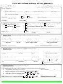 International Exchange Student Application Form