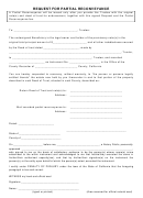 Request For Partial Reconveyance Form - State Of California