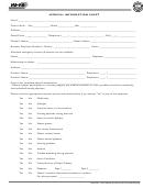 Medical Information Sheet Template