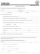 Form De 2251a - Affidavit Of Mailing
