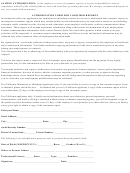 Authorization Form For Consumer Reports