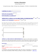Articles Of Dissolution Template