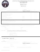 Meals Tax Form - Virginia