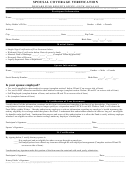Spousal Coverage Verification Form