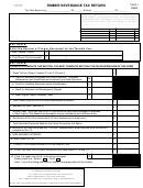 Form Wv/sev-401t - Timber Severance Tax Return - 2000
