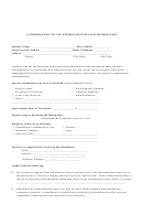 Authorization To Use And Disclose Health Information Form