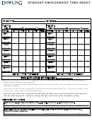 Student Employment Time Sheet