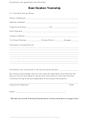 Conditional Use Application And Checklist Form - East Goshen Township