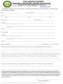 Peddling & Soliciting License Application Form - East Goshen Township