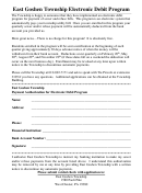 East Goshen Township Electronic Debit Program Form