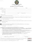 Electronic Filing Registration Form - United States District Court, District Of Rhode Island