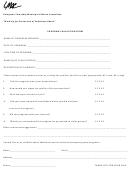 Program Evaluation Form