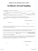 Form 140-s - Certificate Of Good Standing