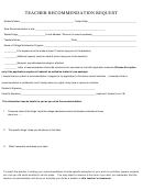 Teacher Recommendation Request Form