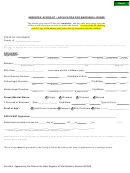 Form M-3 - Absentee Affidavit-application For Marriage License - State Of Colorado - 2005