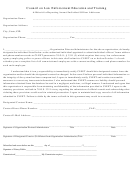 Affidavit For Reporting Annual Individual Officer Addresses Form