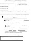Affidavit Of Disposition Of Abandoned Motor Vehicle Form