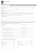 Approval Of A Thesis, Dissertation, Or Research Project Committee Form