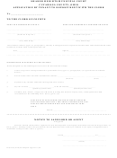 Application By Tenant To Deposit Rent With The Clerk Form