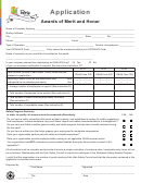 Awards Of Merit And Honor Application