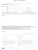 Quit Claim Deed - County Of Chemung, Ny