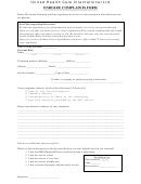 Enrollee Complaints Form