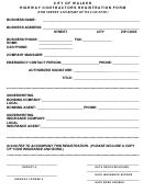 Highway Contractors Registration Form - City Of Walker