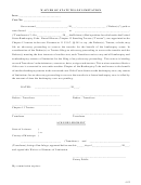 Waiver Of Statute Of Limitations Form - State Of Arizona, County Of Maricopa