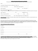Application For Certificate Of Authority