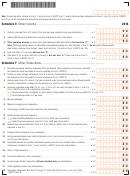 Massachusetts Form 1 - Schedule X, Schedule Y, Schedule Z, Schedule Di - 2016