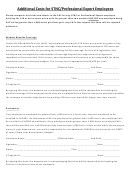 Additional Costs For Stnc/professional Expert Employees Template