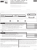 Form Nyc-9.6 - Claim For Credit Applied To General Corporation Tax - 2010