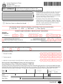 Form Ba-403 - Application Form For Extension Of Time To File Vermont Corporate/buisness Income Tax Return 2001