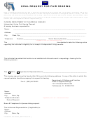 Oral Request For Fair Hearing Form - Department Of Children And Families