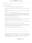 Affidavit Tenant Opportunity To Purchase Form