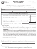 Cg-22 State Form 47862 - Indiana Single Event License - Gross Receipts Report - 2005