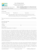 Form # 9b-3.053-2002-01 - Notice To Building Official Of Use Of Private Provider
