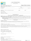 Change Of Prime Contractor Form