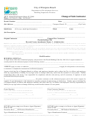 Change Of Sub-contractor Form