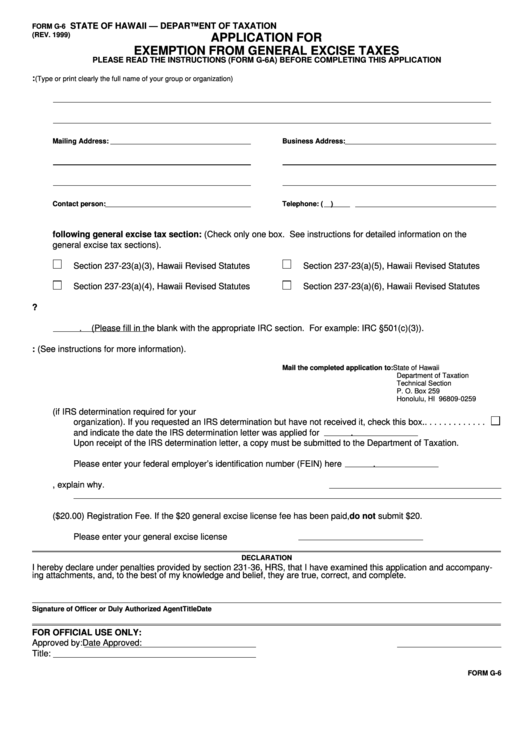 Top Hawaii General Excise Tax Form Templates free to download in ...