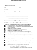 Request For Adult Criminal History Form