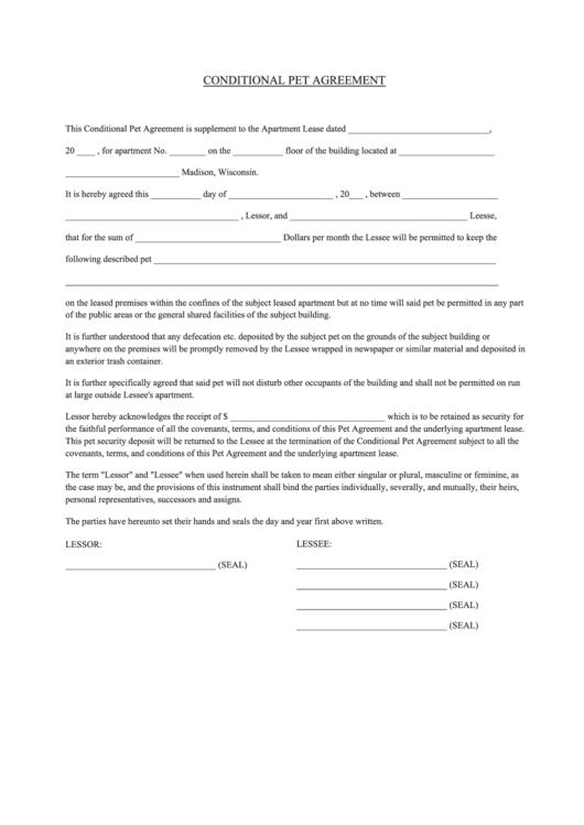 Offset Agreement Template