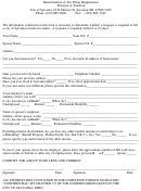 Determination Of Tax Filing Requirement Form - Division Of Taxation