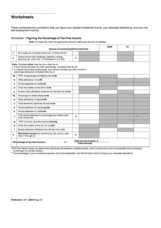 Top 25 Income Tax Worksheet Templates Free To Download In