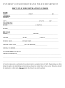 Bicycle Registration Form